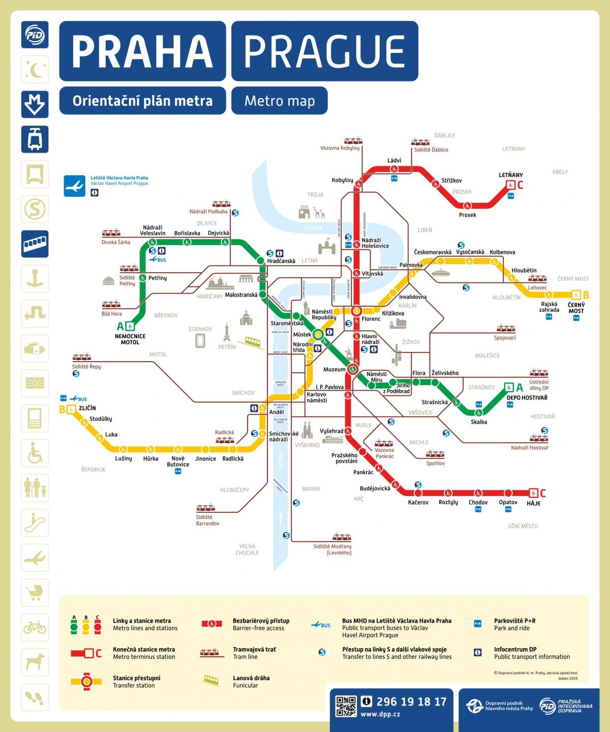 Prague metro stations map