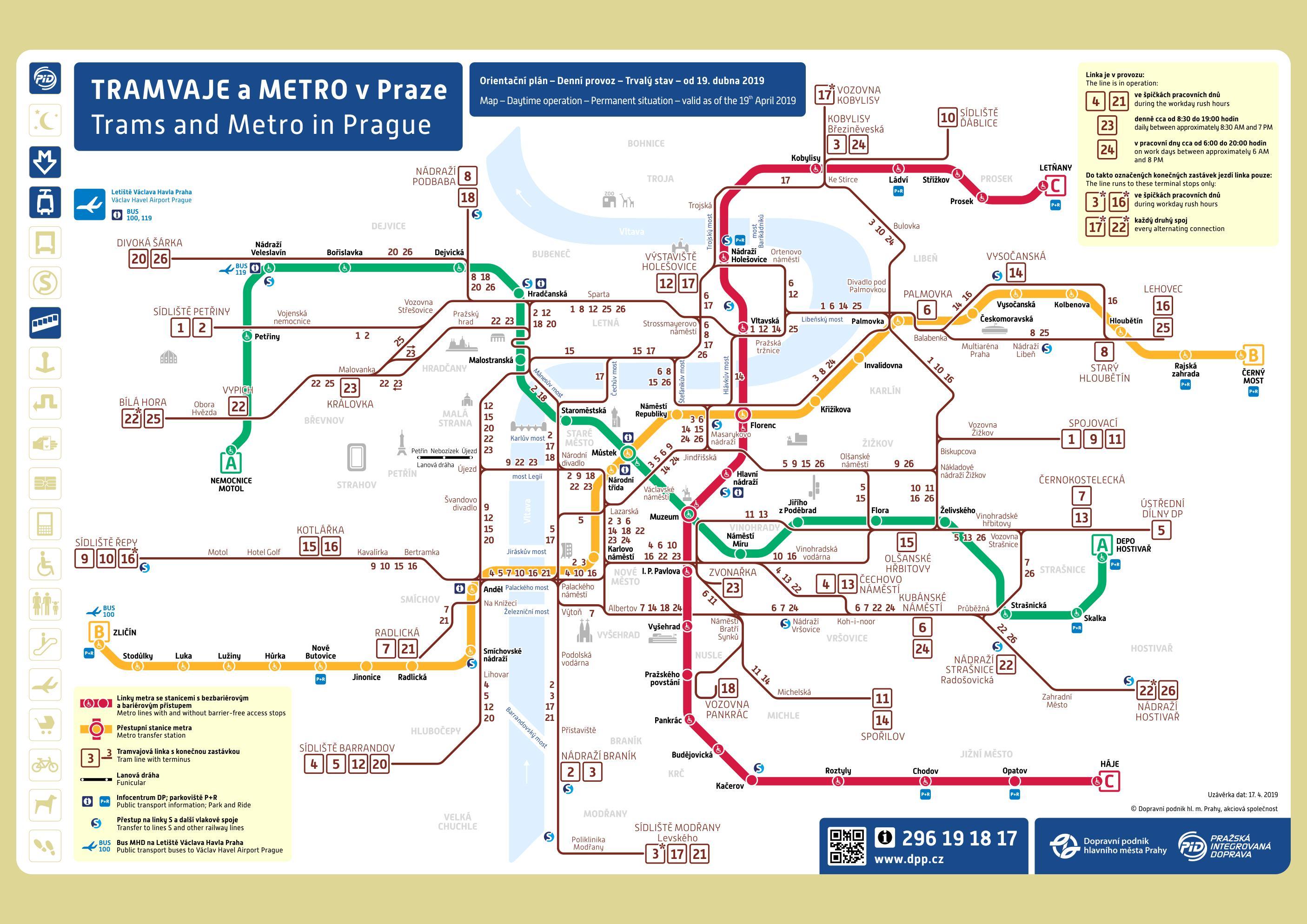 Prague metro map pdf