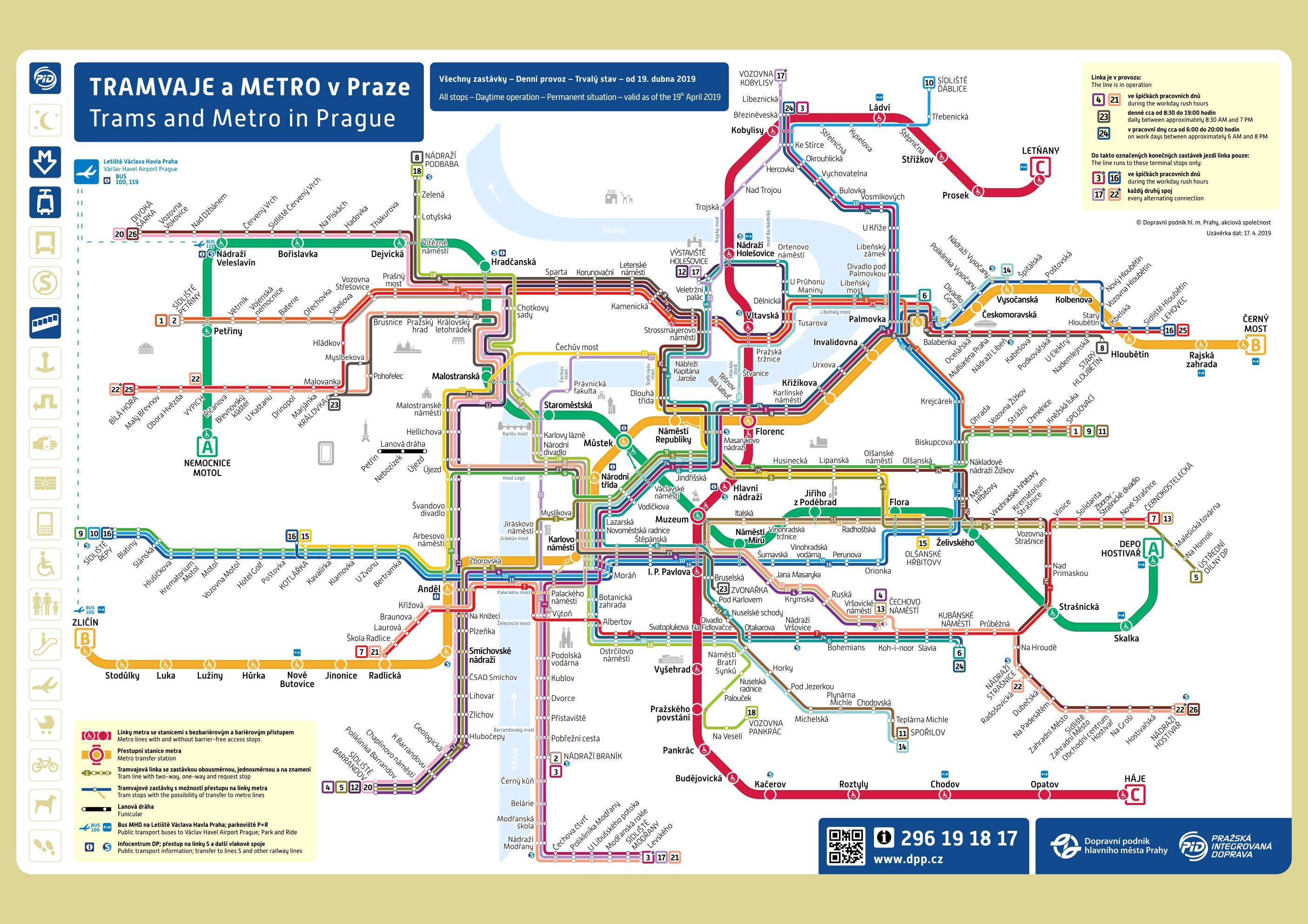 prague tram map pdf Prague Maps Transport Maps And Tourist Maps Of Prague In Czechia prague tram map pdf