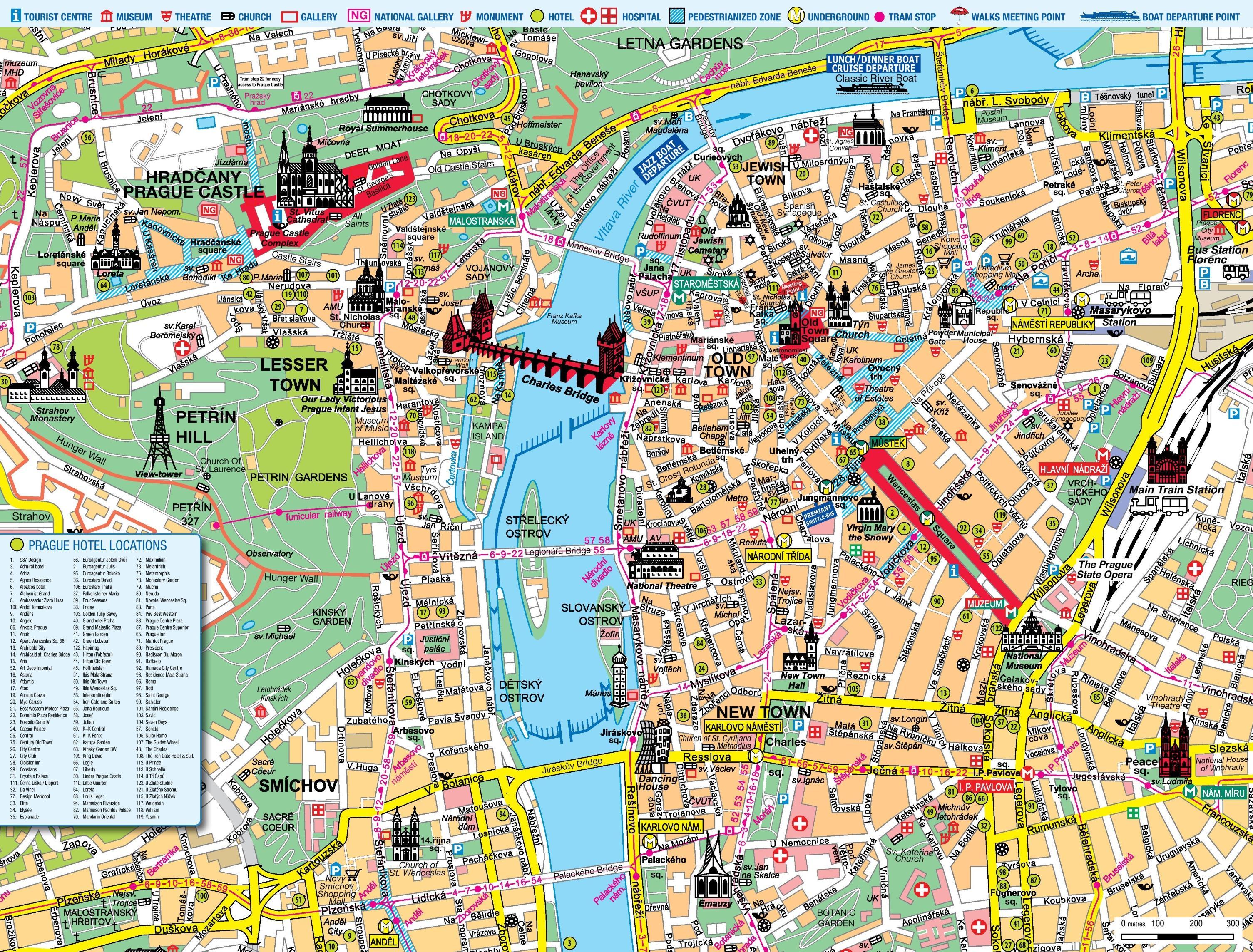 walking map of prague Prague Maps Transport Maps And Tourist Maps Of Prague In Czechia walking map of prague